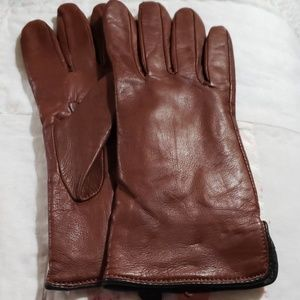 Preston & York softest brown leather size M gloves